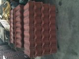 Tôle d'acier enduite de tuile de toiture de Pierre-Chiped de couleur/toiture de pierre