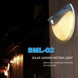 Indicatore luminoso chiaro solare della parete di movimento della lampada del giardino del LED 2W per indicatore luminoso esterno solare domestico con superiore