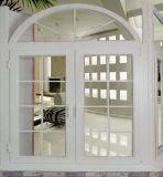 6063-T5 de estructura de aluminio Cristal Casement puerta con Hardware alemán