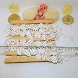 Breiten-Stickerei-Polyester-Zutat-Fantasie-Nylonpaar-Blumen-Spitze-Dekoration des Fabrik-auf lager Großverkauf-27.5cm für Couture-Zusatzgerät u. Hauptgewebe u. Vorhänge