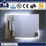 Miroir fixé au mur décoratif de salle de bains lumineux par DEL pour l'hôtel