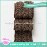 Algodão de acrílico personalizado em algodão Crochet Neck Long Scarf