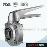 Válvula de borboleta manual de aço inoxidável de um lado e rosca de um aço inoxidável (JN-BV2008)