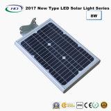 2018 Nouveau type tout-en-un jardin lumière LED solaire 8 W