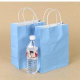 La coutume a estampé le sac à provisions de papier d'emballage avec le traitement Twisted