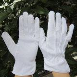 De Katoenen van het bleekmiddel Handschoenen van de Parade met Knoop