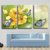 China Supplier Promotional Unframed 3 Piece Modern Living Room Decor Wall Art Canvas Prints