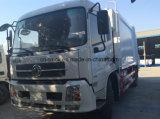 Camion de compactage d'ordures de Dongfeng Tianland 10cbm 10t