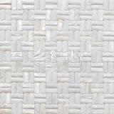 Azulejo de mosaico blanco puro de la cara 10*20m m del arco del shell de agua dulce
