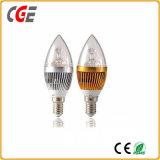LED軽い110V 220V E14 4W LEDの蝋燭の球根