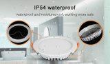 IP54 impermeabilizzano & 15W a prova d'umidità RGB+CCT LED Downlight usato per l'illuminazione della stanza da bagno