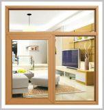 Алюминиевая одетая деревянная составная раздвижная дверь с оборудованием Германии