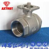 CF8m/el tipo de CF8 2PC atornilló la vávula de bola con el postizo de montaje ISO5211