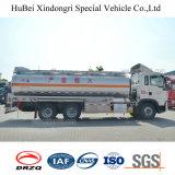 camion-citerne aspirateur de combustible dérivé du pétrole d'essence de l'euro 4 de 21cbm Sinotruk HOWO avec le moteur diesel de l'homme