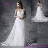 Verschönert mit vorzüglicher wulstiger Spitze Appliques Märchen-Hochzeits-Kleid