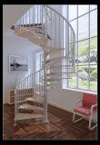 La moda moderna escalera de caracol de madera de acero