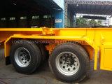 트레일러 40 피트 3 반 차축 콘테이너 포좌/단 하나 타이어