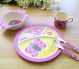 BPA libèrent la vaisselle en bambou de gosses de vaisselle de cuisine de fibre d'Eco réglée (YK-KS002)