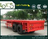 40 피트 2 차축 평상형 트레일러 콘테이너 반 트레일러 (이집트 시장을%s)