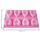 Certificat de la FDA de nouveau produit matériel de qualité alimentaire moule à cake en silicone, 3D Heart-Shaped moule à cake en silicone