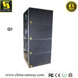 Q1&Q-Sub de 10 pulgadas de doble la parte superior y solo Sub de 18 pulgadas, sistema en línea activa compacto altavoz con módulo amplificador de audio profesional