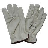 Flügel-Daumen, der Sicherheits-Kuh-Korn-Leder-Arbeits-Handschuhe fährt