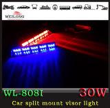 30의 LED 이중 색깔 바람막이 유리 빛 - 흡입 컵