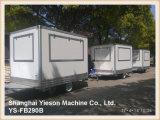 Camions de crême glacée de chariots de café blanc de Ys-Fb290b 2.9m à vendre