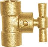 Válvulas de verificación de cobre amarillo de bola de la conexión del socket (EM-V-45)