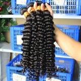 深い波のブラジルのバージンの毛は安い卸し売り人間の毛髪の拡張を束ねる