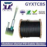 옥외 Gyxtc8s는 12의 코어 광학 섬유 케이블을 각자 지원한다