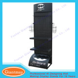 Fußboden-Bildschirmanzeige-Einzelverkaufs-Haken-Regal Pegboard Bildschirmanzeige-Zahnstange für Garten-Hilfsmittel