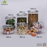 Frasco de alimentos de plástico de 300 ml con tapa para el almacenamiento de alimentos