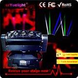 Yuelight 5 눈 10W 풀 컬러 LED 거미 광속 이동하는 맨 위 빛