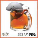 Setaccio del foglio di Infuser del tè di Dophin del silicone del commestibile Ws-If056 per la tazza della tazza, POT del tè