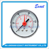 Doppio calibro di Misurare-Pressione di pressione dell'ago con il manometro Alerm-Rosso dell'indicatore