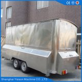 Ys-Fv450A 4.5m Edelstahl-bewegliche Gaststätte-mobiles Nahrungsmittelauto für Verkauf
