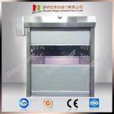 Puerta rápida del balanceo del obturador de la velocidad de la cortina industrial rápida interior del PVC (Hz-H589)