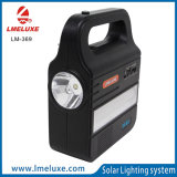 Sistema di illuminazione domestico con le piccole lampade solari di 3W LED per illuminazione