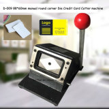 D-009 88 * 60mm esquina redonda manual Die máquina de cortar la tarjeta de crédito