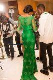 Платье вечера E1417 втулок зеленого Mermaid официально платья шнурка длиннее