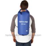 Sacchetto di Duffle asciutto impermeabile di marchio della tela incatramata su ordinazione del PVC con il sacchetto asciutto 10L per lo spostamento di nuoto