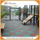 Esteras de goma de goma al aire libre del azulejo de suelo En1177 para el patio de los niños