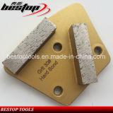 Cuchilla de rectificado de diamante de hormigón con segmentos de barra doble