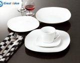 호텔 질 대중음식점 백색 도매를 위한 백색 큰 접시 사기그릇