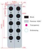 Tasten-Membranschalter-grafisches Testblatt des Dünnfilm-10 für Handy