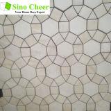 Reticolo Waterjet delle mattonelle di mosaico del marmo di disegno del bello fiore