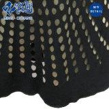 黒い円形カラーくり抜く点の短袖の高ウエストの女性ブラウス