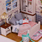 Huis van Doll van het Speelgoed van de Jonge geitjes van het Speelgoed van kinderen het Houten Grote Gelukkige