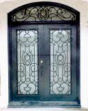 中国の工場ハンドメイドの錬鉄の複式記入の前ドア